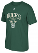 "Milwaukee Bucks Adidas NBA ""Bank Shot"" Men's Short Sleeve T-Shirt"