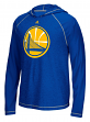 """Golden State Warriors Adidas NBA """"Primary"""" Men's Climalite Hooded L/S Shirt"""