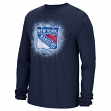 "New York Rangers Reebok NHL ""Encased In Ice"" Long Sleeve Men's T-Shirt"