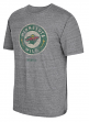 "Minnesota Wild CCM ""Bigger Logo"" Distressed Premium Tri-Blend  T-Shirt"