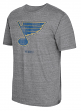 "St. Louis Blues CCM ""Bigger Logo"" Distressed Premium Tri-Blend  T-Shirt"
