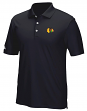 "Chicago Blackhawks Adidas NHL Men's ""Performance"" Climacool Polo Shirt - Black"