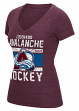 "Colorado Avalanche Women's Reebok NHL ""Iced Lines"" Tri-Blend Premium T-shirt"