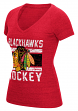"Chicago Blackhawks Women's Reebok NHL ""Iced Lines"" Tri-Blend Premium T-shirt"