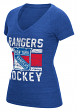 "New York Rangers Women's Reebok NHL ""Iced Lines"" Tri-Blend Premium T-shirt"