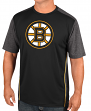 "Boston Bruins Majestic NHL ""Glowing Play"" Men's Performance S/S T-Shirt"