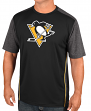 """Pittsburgh Penguins Majestic NHL """"Glowing Play"""" Men's Performance S/S T-Shirt"""