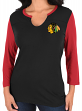 "Chicago Blackhawks Women's NHL Majestic ""Glowing"" 3/4 Sleeve Notch Neck T-shirt"