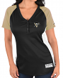 "Pittsburgh Penguins Women's Majestic ""Go With The Feeling"" V-neck Placket Shirt"