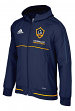 Los Angeles Galaxy Adidas Men's MLS 2017 Travel Sideline Full Zip Hooded Jacket