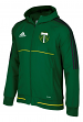 "Portland Timbers Adidas Men's MLS 2017 ""Travel"" Sideline Full Zip Hooded Jacket"