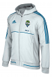 "Seattle Sounders Adidas Men's MLS 2017 ""Travel"" Sideline Full Zip Hooded Jacket"