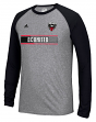 "D. C. United Adidas MLS ""Midfield"" Men's Climalite L/S T-Shirt"