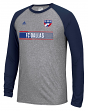"FC Dallas Adidas MLS ""Midfield"" Men's Climalite L/S T-Shirt"