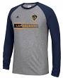 "Los Angeles Galaxy Adidas MLS ""Midfield"" Men's Climalite L/S T-Shirt"