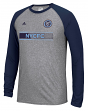 "New York City FC Adidas MLS ""Midfield"" Men's Climalite L/S T-Shirt"