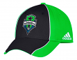 "Seattle Sounders Adidas MLS ""Free Kick"" Structured Flex Performance Hat"