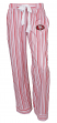 "San Francisco 49ers NFL Women's ""Principle"" Dual Blend Striped Sleep Pants"