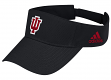 Indiana Hoosiers Adidas NCAA Basic Logo Adjustable Visor - Black