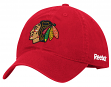Chicago Blackhawks Reebok NHL Basics Slouch Adjustable Hat - Red