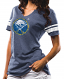 "Buffalo Sabres Women's Majestic NHL ""Tested"" Notch Neck Tri-Blend T-Shirt"