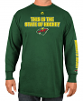 "Minnesota Wild Majestic NHL ""Wrap Around"" Long Sleeve Men's T-Shirt"