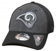 "Los Angeles Rams New Era NFL 39THIRTY ""Heathered Black Neo"" Flex Fit Hat"