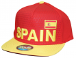 "Team Spain World Cup Soccer Federation ""Jersey"" Flat Bill Snap Back Hat"