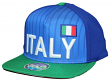 "Team Italy World Cup Soccer Federation ""Jersey"" Flat Bill Snap Back Hat"