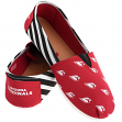 Arizona Cardinals Women's NFL Slip On Canvas Stripe Shoe Slippers