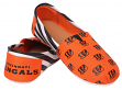 Cincinnati Bengals Women's NFL Slip On Canvas Stripe Shoe Slippers
