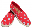 "Ohio State Buckeyes Women's NCAA ""Espadrille"" Slip On Canvas Shoe Slippers"
