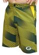 "Green Bay Packers NFL ""Diagonal Striped"" Men's Casual Polyester Walking Shorts"