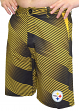 "Pittsburgh Steelers NFL ""Diagonal Striped"" Men's Casual Polyester Walking Shorts"
