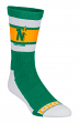 Minnesota North Stars CCM NHL Men's Striped Logo Crew Length Socks
