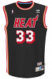 Alonzo Mourning Miami Heat Adidas NBA Throwback Swingman Jersey - Black