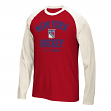 "New York Rangers CCM NHL ""Historic"" Tri-Blend Men's Long Sleeve Red Crew Shirt"