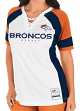 "Denver Broncos Women's Majestic NFL ""Draft Me 3"" White Jersey Top Shirt"