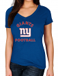 """New York Giants Women's Majestic NFL """"Uncontainable"""" Short Sleeve T-shirt"""