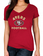 "San Francisco 49ers Women's Majestic NFL ""Uncontainable"" Short Sleeve T-shirt"