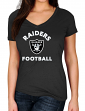 """Oakland Raiders Women's Majestic NFL """"Uncontainable"""" Short Sleeve T-shirt"""