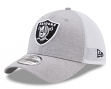 "Oakland Raiders New Era NFL 39THIRTY ""Tech Sweep"" Gray Flex Fit Hat"