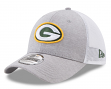 "Green Bay Packers New Era NFL 39THIRTY ""Tech Sweep"" Gray Flex Fit Hat"