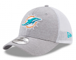 "Miami Dolphins New Era NFL 39THIRTY ""Tech Sweep"" Gray Flex Fit Hat"