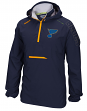 "St. Louis Blues Reebok NHL 2016 Center Ice ""Anorak"" Kinetic 1/4 Zip Jacket"