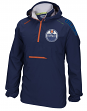 "Edmonton Oilers Reebok NHL 2016 Center Ice ""Anorak"" Kinetic 1/4 Zip Jacket"