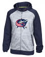 Columbus Blue Jackets Reebok NHL 2016 Center Ice Speedwick Full Zip Sweatshirt