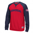 "Montreal Canadiens Reebok NHL ""Offsides"" Long Sleeve Raglan Crew Shirt"