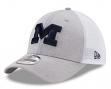 "Michigan Wolverines New Era NCAA 39THIRTY ""Tech Sweep"" Gray Flex Fit Hat"