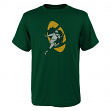 "Green Bay Packers Youth NFL ""Distressed Vintage Logo"" Short Sleeve T-Shirt"